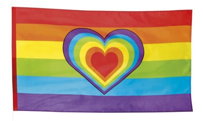 Boland Rainbow Heart Gay Pride Flag Party Celebration Decoration 150 x 90cm