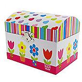 Azalea Flower Bouquet Musical Jewellery Box