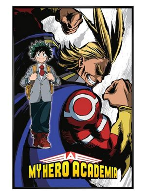 My Hero Academia Gloss Black Framed Poster 61x91.5cm