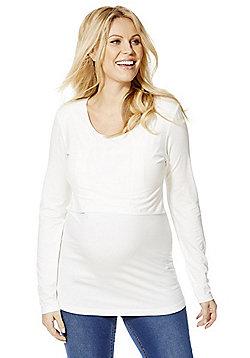 Mamalicious Layered Long Sleeve Maternity T-Shirt - White