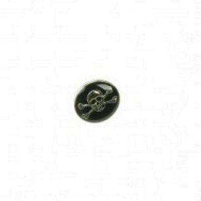 Dill Buttons 20mm Skull&CrossBone Black