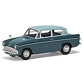 CORGI VA00132 Ford Anglia 105E DeLuxe, Pompadour Blue & Shark Blue