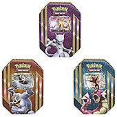 Pokemon TCG Spring Tin 2016 Set of 3 (Mewtwo, Gyarados, Machamp)