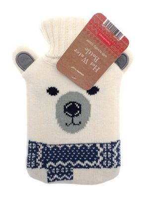 Country Club Polar Fun Hot Water Bottle with Polar Bear Cover