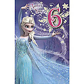 Disney Frozen Birthday Card - 6 Years