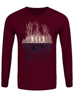 Where There's A Will Men's Long-sleeve T-Shirt, Burgundy