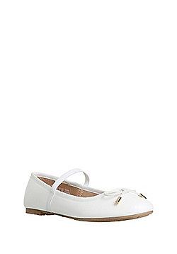 F&F Mary Jane Ballerina Pumps - White