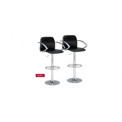 Ethos Adjustable Bar Stool with Step (Set of 2)
