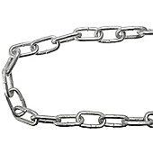 Faithfull Galvanised Chain Link 5 x 28mm x 25m Reel - Max Load 160kg