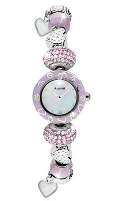 Accurist Ladies Mother of Pearl Charm Watch LB1465L