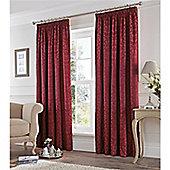 Fusion Eastbourne Pencil Pleat Curtains - Claret
