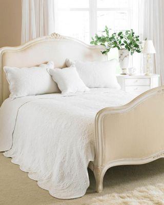 Riva Home Toulon White Bedspread - Double