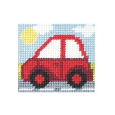 Orchidea Little Red Car Embroidery Kit