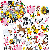 Crafts Farmyard Printed Foam Stickers (Pack of 96)