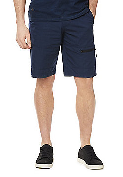 F&F Cargo Shorts with Belt - Navy