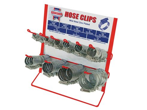 Faithfull Hoseclip Display C/W Stock 100Pc