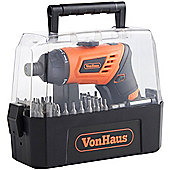 VonHaus 3.6V Li-ion Screwdriver 50pc Set