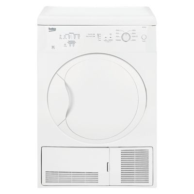 Beko Condeser Tumble Dryer, DC7112W, 7KG Load - White