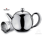Grunwerg Cafe Ole Rondeo Stainless Steel Teapot with Infuser 1.5l