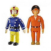Fireman Sam Action Figures 2 Pack - Sam and Tom Thomas