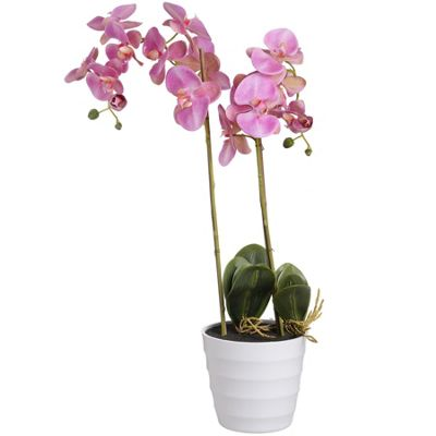Eternity Pink Burst Potted Orchid Artificial Flower Decor Home Living