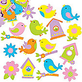 Springtime Bird Foam Stickers for Children to Decorate and Personalise Easter Cards (Pack of 120)