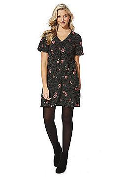F&F Floral and Spot Print Jersey Tea Dress - Multi