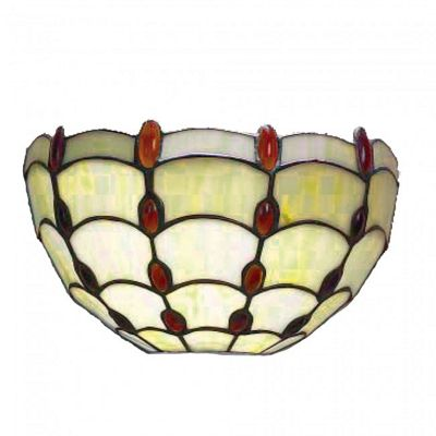25cm Clear Jewelled Wall Light