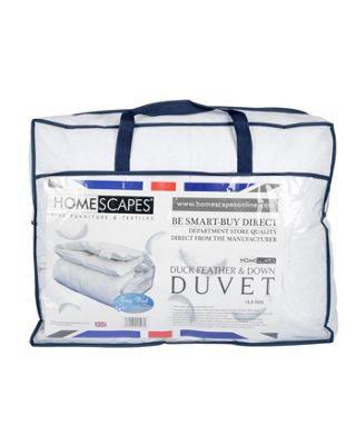 Homescapes Duck Feather and Down Duvet 13.5 Tog Super King Size Winter Luxury Quilt