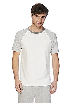 F&F Raglan Lounge T-Shirt - White & Grey