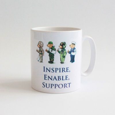 Help for Heroes Personalised Bear Mug White