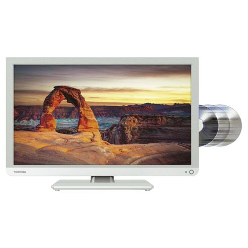 Toshiba 22D1334B 22 Inch Full HD 1080p LED TV / DVD Combi With Freeview - White