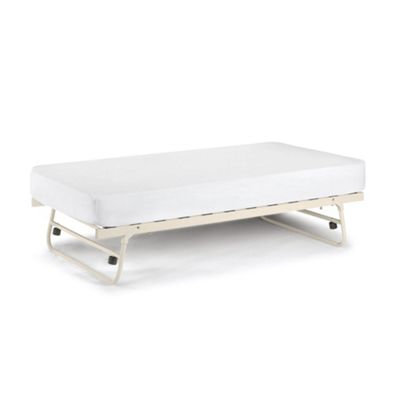 Happy Beds Versailles Wood Trundle Bed - Stone White - 3ft Single