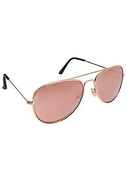 F&F Mirrored Aviator Sunglasses - Pink
