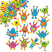 Monster Foam Stickers (Pack of 100)