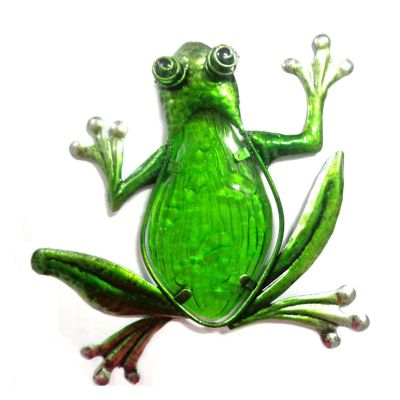 Novus Imports Frog Stained Glass Metal Wall Art