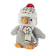 Intelex Warmies Heatable Christmas Penguin Microwavable Cozy Plush Soft Toy