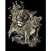 Reeves Copperfoil Gold - Lioness and Cubs - Art Store