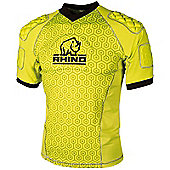 Rhino Rugby - Lightweight Pro Body Protection Top Yellow - Adult - Yellow
