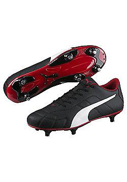 Puma Classico SG Adult Football Boots - Black / White / Red - Sizes UK 6 - UK 12 - Black