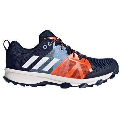adidas Kanadia 8.1 Trail Kids Boys Running Trainer Shoe Blue/Orange - UK 3