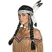 Smiffy's - Indian Native Wig - Black