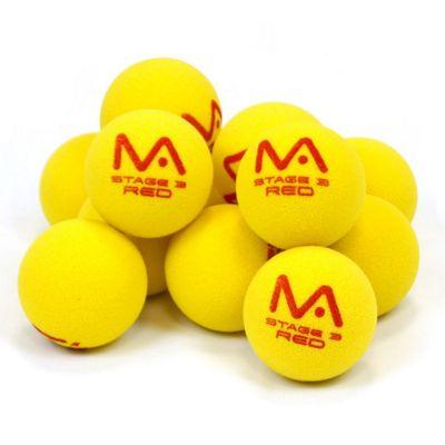 MANTIS Mini Tennis Sponge Balls Stage 3 Red PK of 12