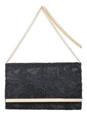 F&F Metallic Trim Lace Clutch Bag