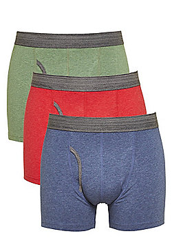 F&F 3 Pack of Marl Trunks with As New Technology - Multi