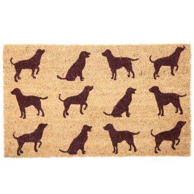 Puckator Dog Silhouettes Coir Door Mat