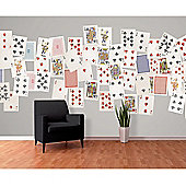 Creative Collage Playing Cards Designer Wall Mural - 64 Piece