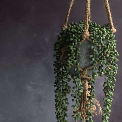 Buy String Of Pearls Artificial Hanging Pot Plant From Our