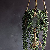 String Of Pearls Artificial Hanging Pot Plant