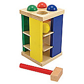 Melissa & Doug Wooden Pound Roll Tower Multi-coloured